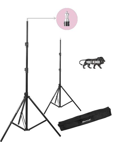 Sonia LS-250 9 Feet Umbrella Flash Portable Foldable Combo Light Stand for Photography Set of 2 with Carry Bag Case for Video Photo Studio Shooting