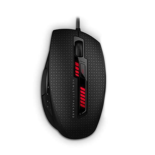HP OMEN X9000 Wired 8200DPI 6-Button Gaming Mouse with Elite Precision and Customized Control Black