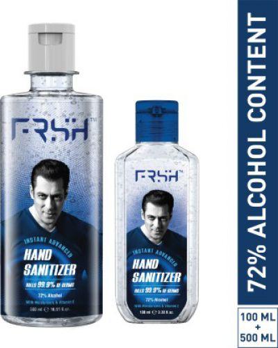 Frsh By Salman Khan Frsh Instance Advanced 100ml +500ml Combo Hand Sanitizer Bottle  (2 x 300 ml)