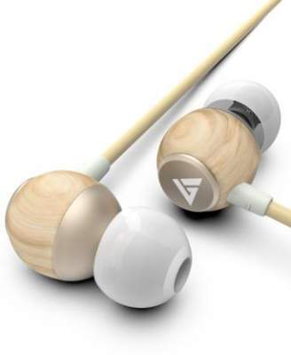 Boult Audio BassBuds Oak Pure-Wood Wired Headset