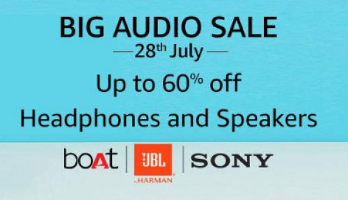 Big Audio Sale | Up to 60% off on Headphones and Speakers