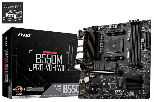 MSI B550M PRO-VDH WiFi AMD Socket AM4 MATX Motherboard