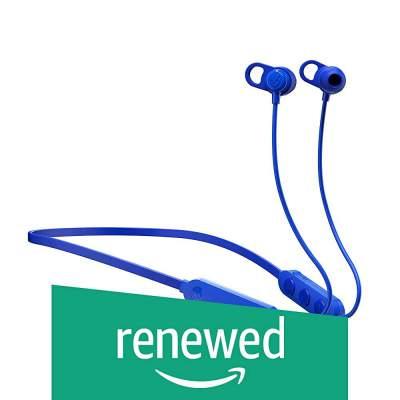 (Renewed) Skullcandy Jib Plus S2JPW-M101 Wireless in-Earphone with Mic (Blue/Black)