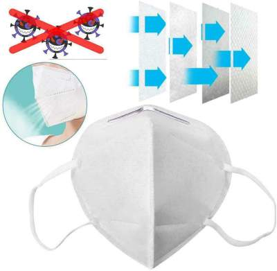 OPTIMA N95 Re-usable, Non-woven with Melt Blown Layer Anti Pollution Mask (White)