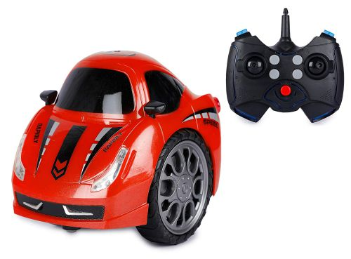 Webby RC Rechareable 360° Twist Stunt Car with Light & Music (Red)