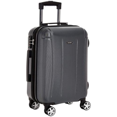 Amazon Brand - Solimo 56.5 cm Hardsided Luggage with TSA Lock, Grey