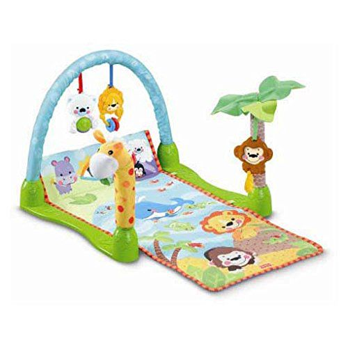 Webby Rain Forest 1-2-3 Musical Baby Gym, Multi Color