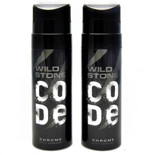 Wild Stone Code Chrome No Gas Deodorant Spray - For Men  (120 ml, Pack of 2)