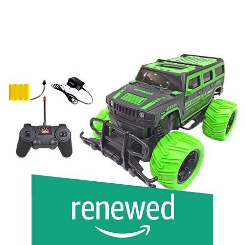 (Renewed) Popsugar 1:20 Off Roader Monster Truck with Remote Control Rechargeable Toy for Kids, Green