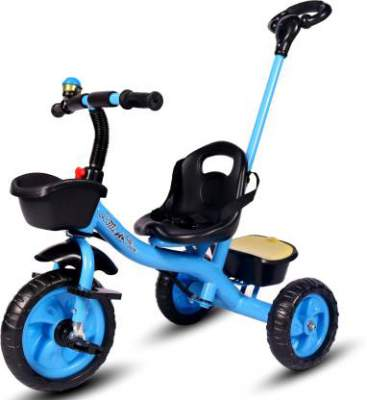 Little Olive Little Toes Baby Tricycle Phthalates Esters Free; Harmful Chemicals Free / Kids Trike / Ride-On with Parental Push Bar, Foot Rest   Suitable for Boys & Girls