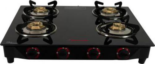 Butterfly Rapid 4 Burner Glass Manual Gas Stove (4 Burners)