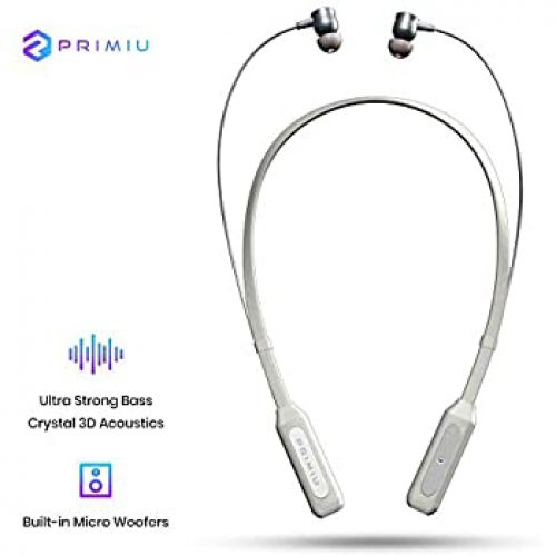 Primiu Apollo Neck Band Wireless Earphones with Ultra Strong Bass