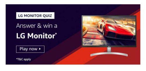 Amazon LG Monitor Quiz Answers: Win LG Monitor