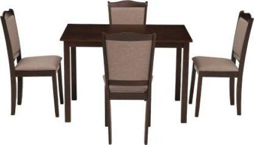 Woodness Freya Solid Wood 4 Seater Dining Set (Finish Color - Wenge)