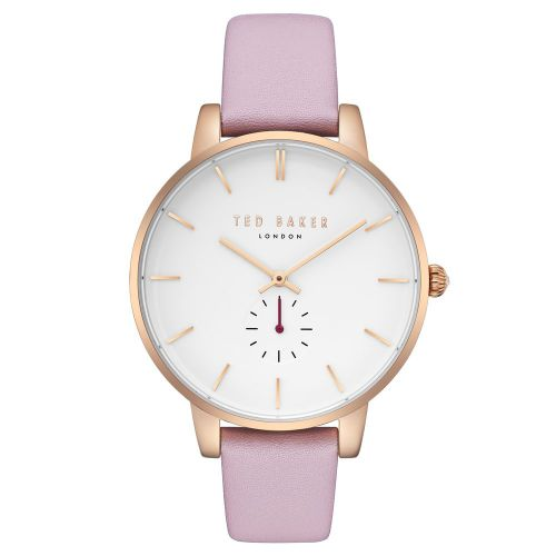 Ted Baker Women's 'Kate' Quartz Stainless Steel and Leather Dress Watch.