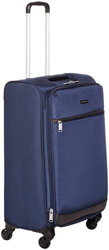 AmazonBasics 74 cm Navy Blue Softsided Check-in Trolley