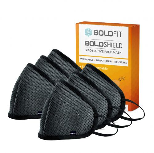 Boldfit Reusable Face Mask for Men and Women. 95% Protection from pollution and germs. Reusable and Washable upto 30 days. Easy Breathable and efficient for outdoor and Indoor use