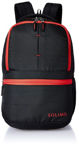 (Renewed) Amazon Brand - Solimo 25 Ltrs Black Casual Backpack