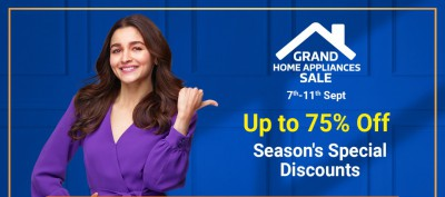 Grand Home Appliances Sale: up to 75% Off + Extra 10% off on ICICI 7 Citi bank cards