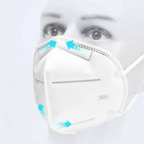 N-95 Mask With 6 Layer Protection Medical Grade Comfortable Wear With Nose Pin Reusable SX-GB26 _5  (White, Free Size, Pack of 5)