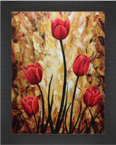 Perfect Flowers art Canvas 13.5 inch x 10.5 inch Painting