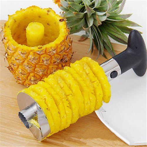 Heavy Stainless Steel Fruit Pineapple Corer Slicer Peeler Kitchen Cutter Knife