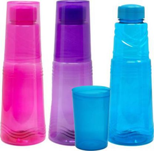 Flipkart SmartBuy Water Bottle with Glass Lightweight 3pc set 925 ml Bottle