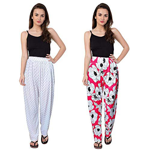 SHOPPERS CLUB Women's Soft Cotton Night Wear Pyjama (Pack of 4Pcs)