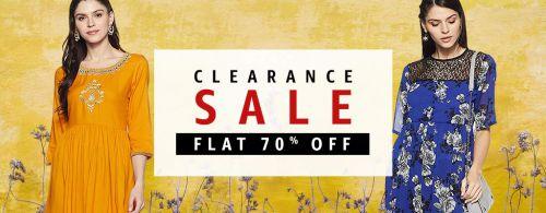 Clearance Sale: Kurtas & Kurtis at minimum 70% Off