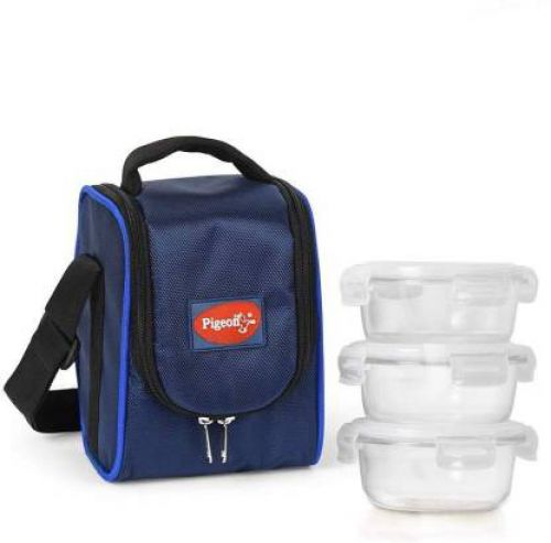 Pigeon 14337 3 Containers Lunch Box Glass (400 ml)