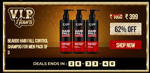 Beardo hair fall control Shampoo for Men (Pack of 3)