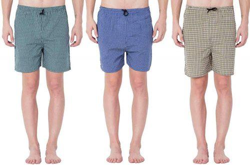 River Hill Self Design Men's Multicolor Regular Shorts (Pack of 3)
