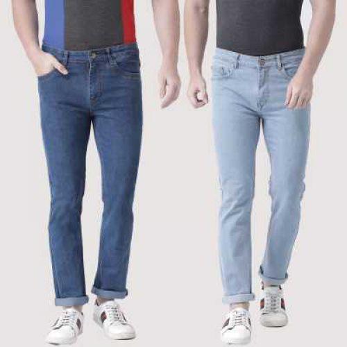Teesort Slim Men Multicolor Jeans  (Pack of 2)