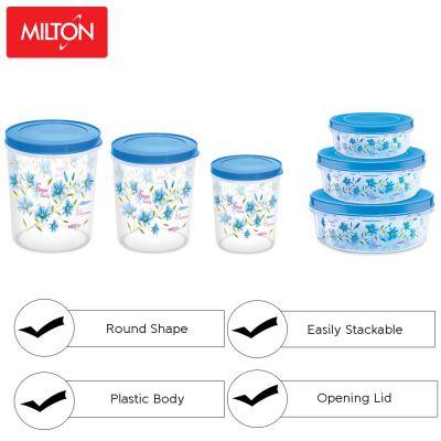 Milton Super Storage Plastic Container Set, 6-Pieces