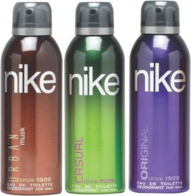 Nike Urban Musk Casual Original Deodorant Spray - For Men  (600 ml, Pack of 3)