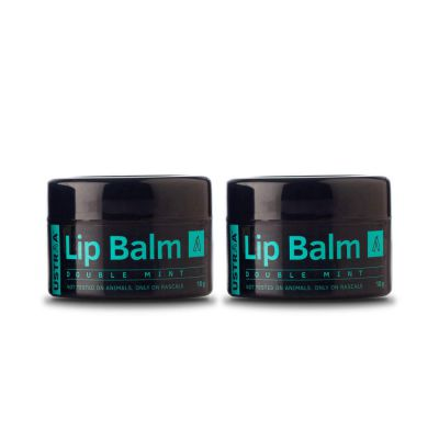 Ustraa Double Mint Lip Balm, 20 g (Pack of 2)