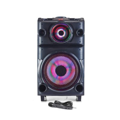 Blaupunkt PS100 Volcano 100 DJ Panel Party Speaker with Battery & Wheels (Black)