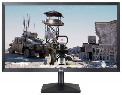 LG 21.5 Full HD (1920 x 1080) TN Panel Monitor, HDMI & VGA Port, 1 ms Response Time, 75 Hz Refresh Rate & AMD Freesync