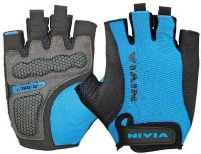 Nivia Hexa Grip Gym & Fitness Gloves (Blue, Black)