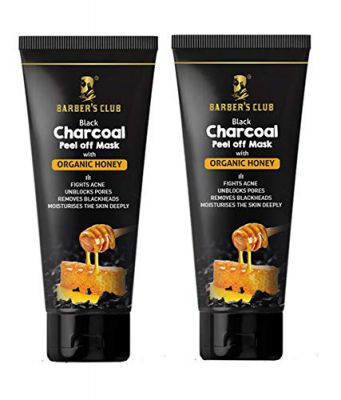 Barber's Club Black Charcoal Peel Off Mask with Honey - 60 gms - Pack of 2