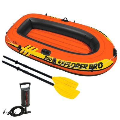 Intex Explorer Pro 200 Boat Set, Multicolor