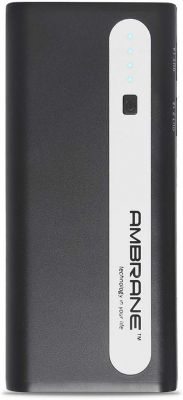 Ambrane Power Bank P-1310 (13000 mAh) Black & Grey
