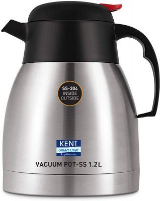 Kent Stainless Steel Vacuum Pot, 1.2 Litre, Silver