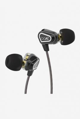 Boat Nirvanaa Duo Dual Drivers T Wired Earphones With Mic