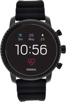 Fossil 4th Gen Explorist HR Smartwatch  (Black Strap Regular)