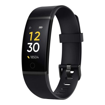 Realme Band - Full Colour Screen with Touchkey, Real-time Heart Rate Monitor, in-Built USB Charging, IP68 Water Resistant
