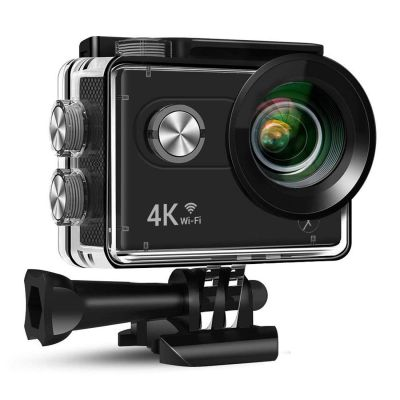 """Xmate Stunt 16MP Real 4K@25fps WiFi Action Camera, 2"""" HD Display 170° Wide Angle Lens, 30m Waterproof Case, 2.4G Remote & Mounting Accessories - (Black)"""