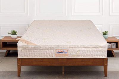 Springtek Eurotop Ortho Plus 6-inch Single Size Mattress (White, 72x36x6)