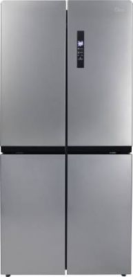 Midea 544 L Frost Free Side by Side Refrigerator with Four Doors (Silver, MRF5520MDSSF)