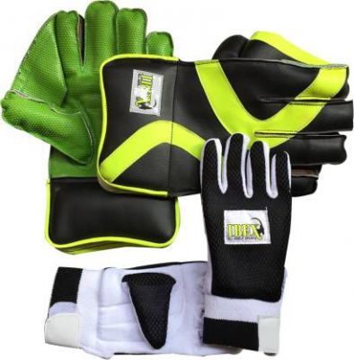 IBEX Practice Wicket Keeping Gloves Combo With Black Inner Gloves Wicket Keeping Gloves